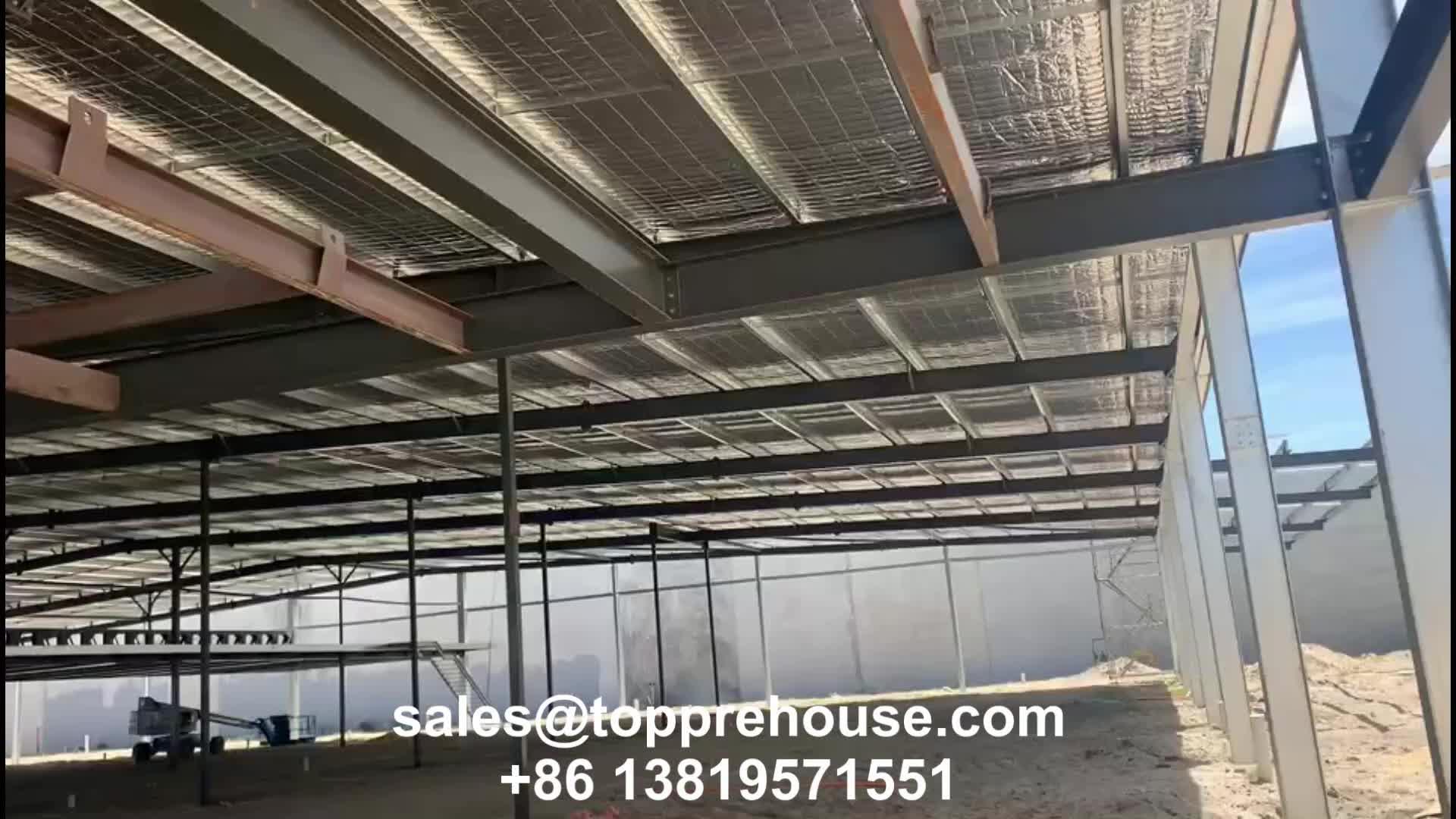 Della Fabbrica a Basso Costo Prefabbricata Grande Arco Laboratorio Capannone Magazzino su Misura Struttura in Acciaio Dell'edificio