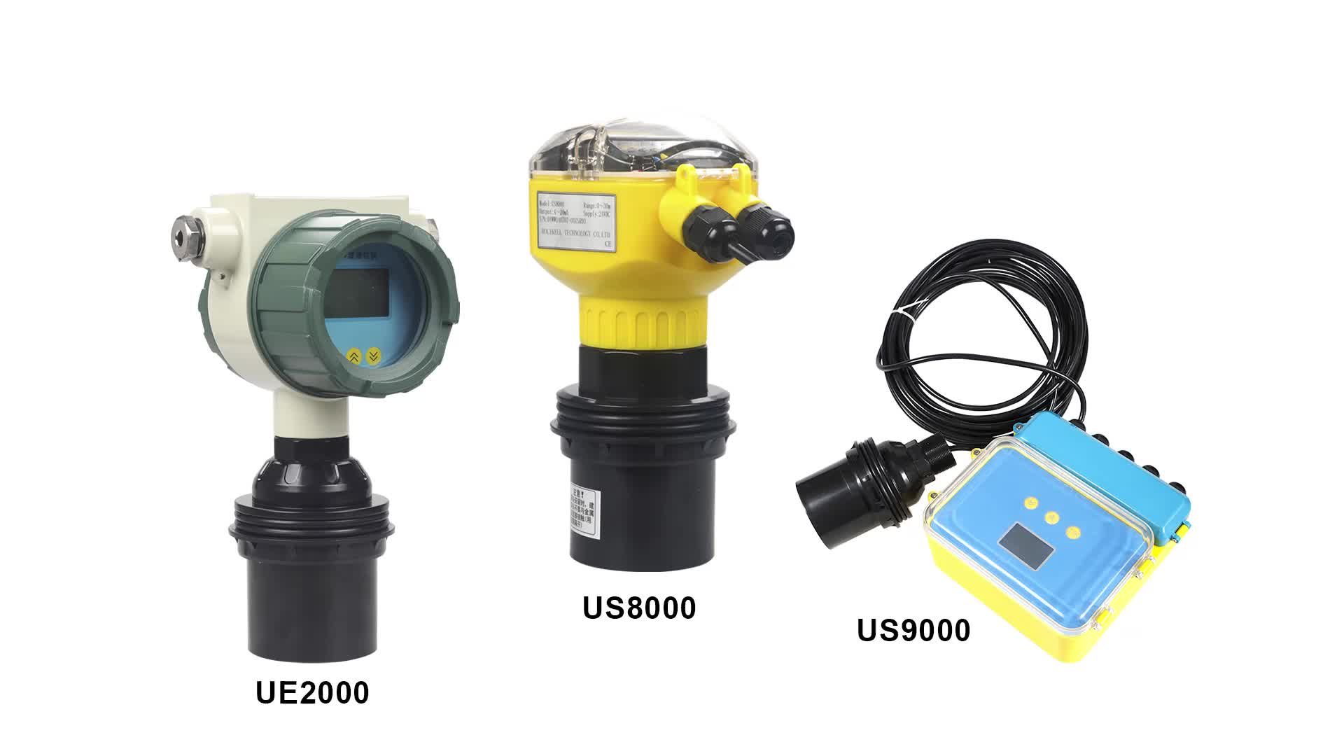 Holykell 0 to 70m Long Distance 4-20mA  0-5v Explosion Proof Tank Ultrasonic Fuel Oil Level Sensor