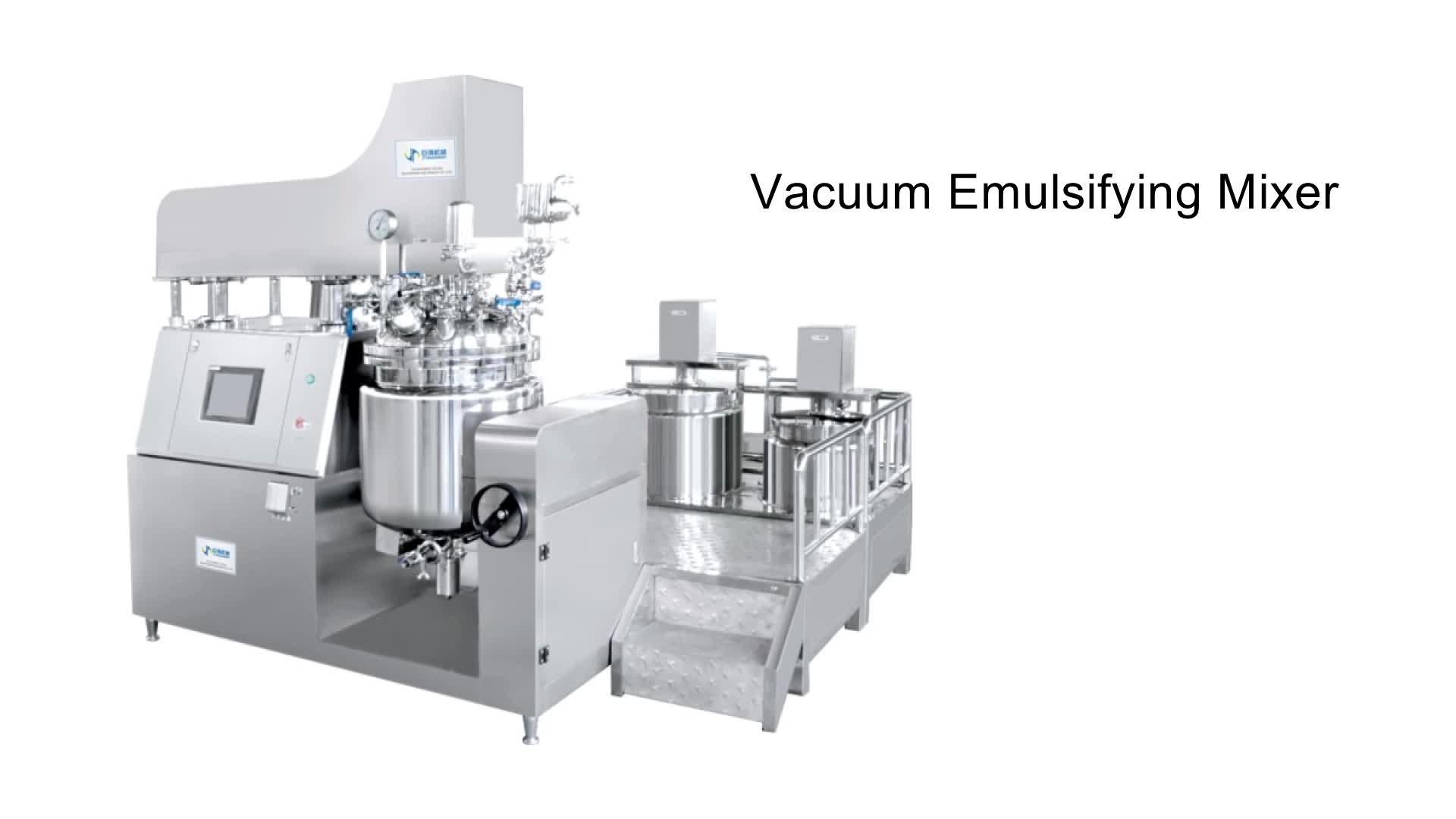 जीएमपी मानक 50L वैक्यूम homogenizing पायसीकारकों शरीर क्रीम मिक्सर मशीन