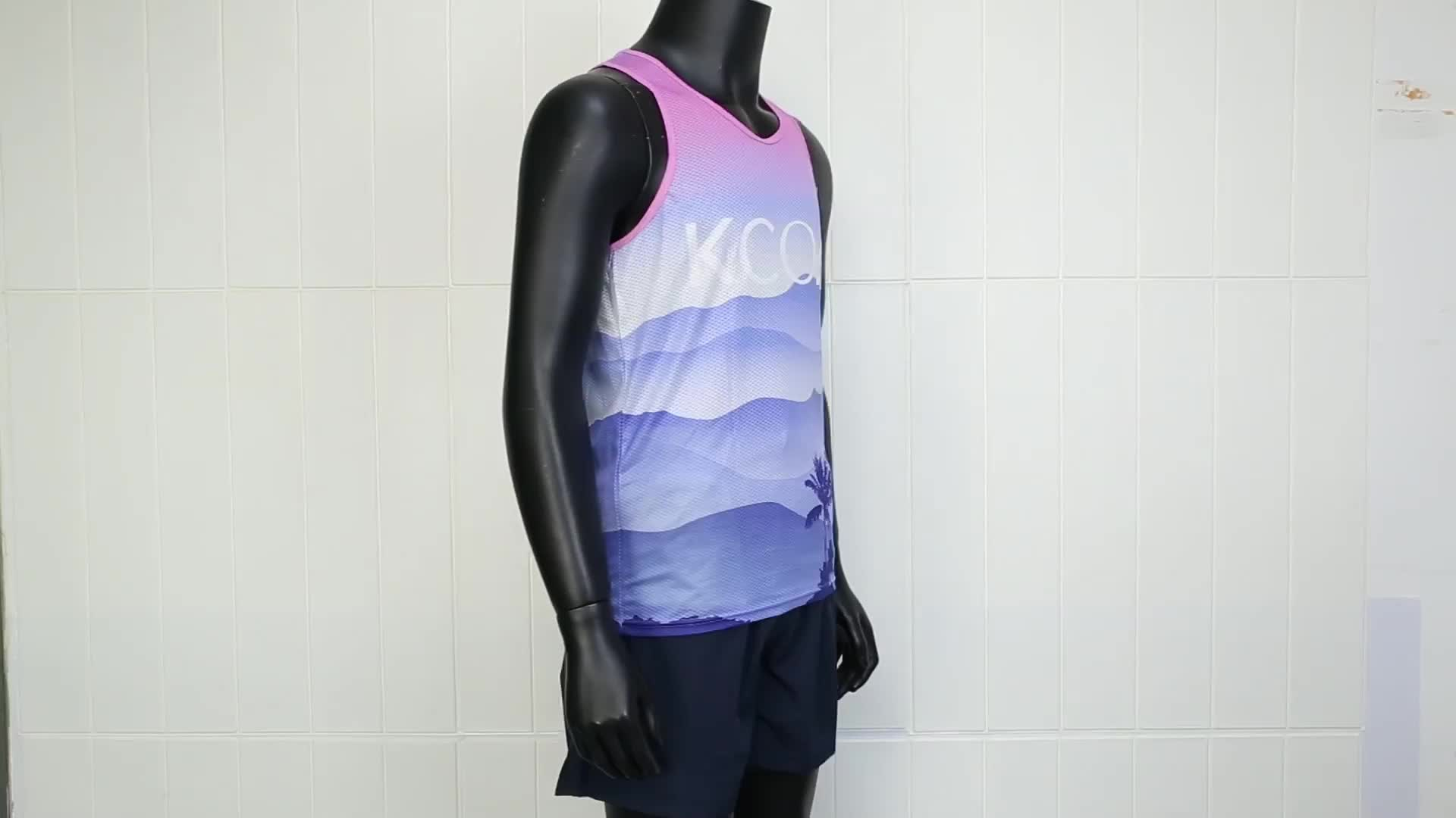 Sportswear Running Vest Wholesale Customized Running Singlet With Sublimated Print
