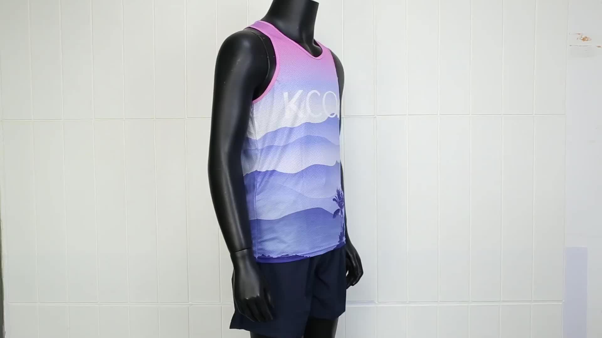 Custom Coolmax Running Shirt/Running T Shirt with Full Sublimation Printing