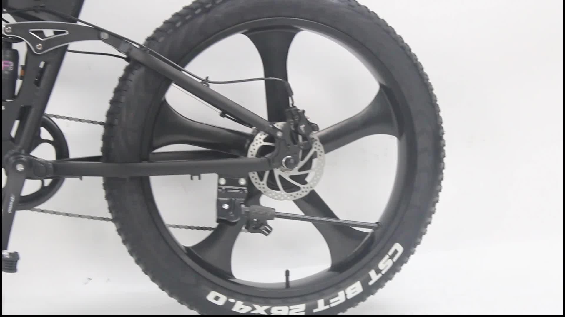 Grande Puissance Pliant 26 Pouces Pneu Fatbike Électrique Gros Vélo