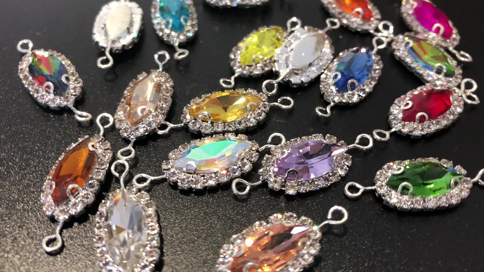 Wholesale Blingbling Axe Shape Glass Sew On Stone Crystal Sew On Rhinestone With Claw from Wedding