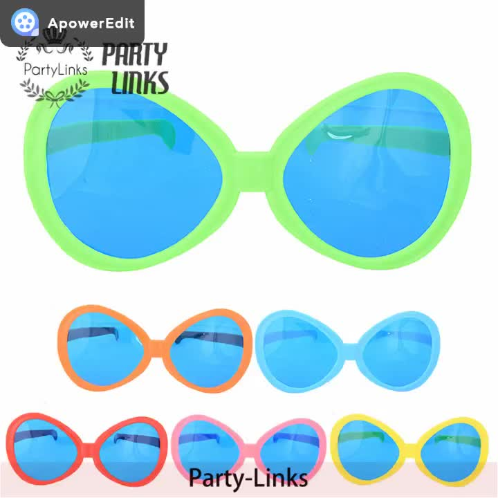 Jumbo Size Plastic Party Glasses For Woman