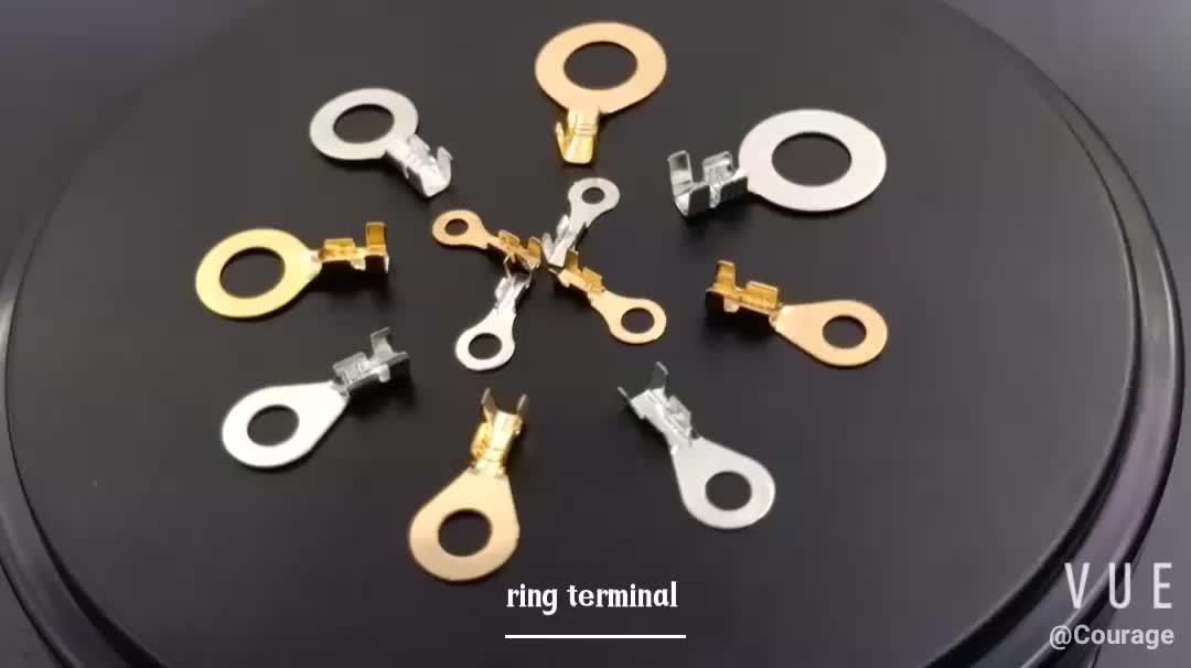 आकार 3.2/4.2/5.2/6.2/8.2mm समेटना वायर भाड़ में टर्मिनल जमीन पीछे पीछे फिरना अंगूठी टर्मिनल