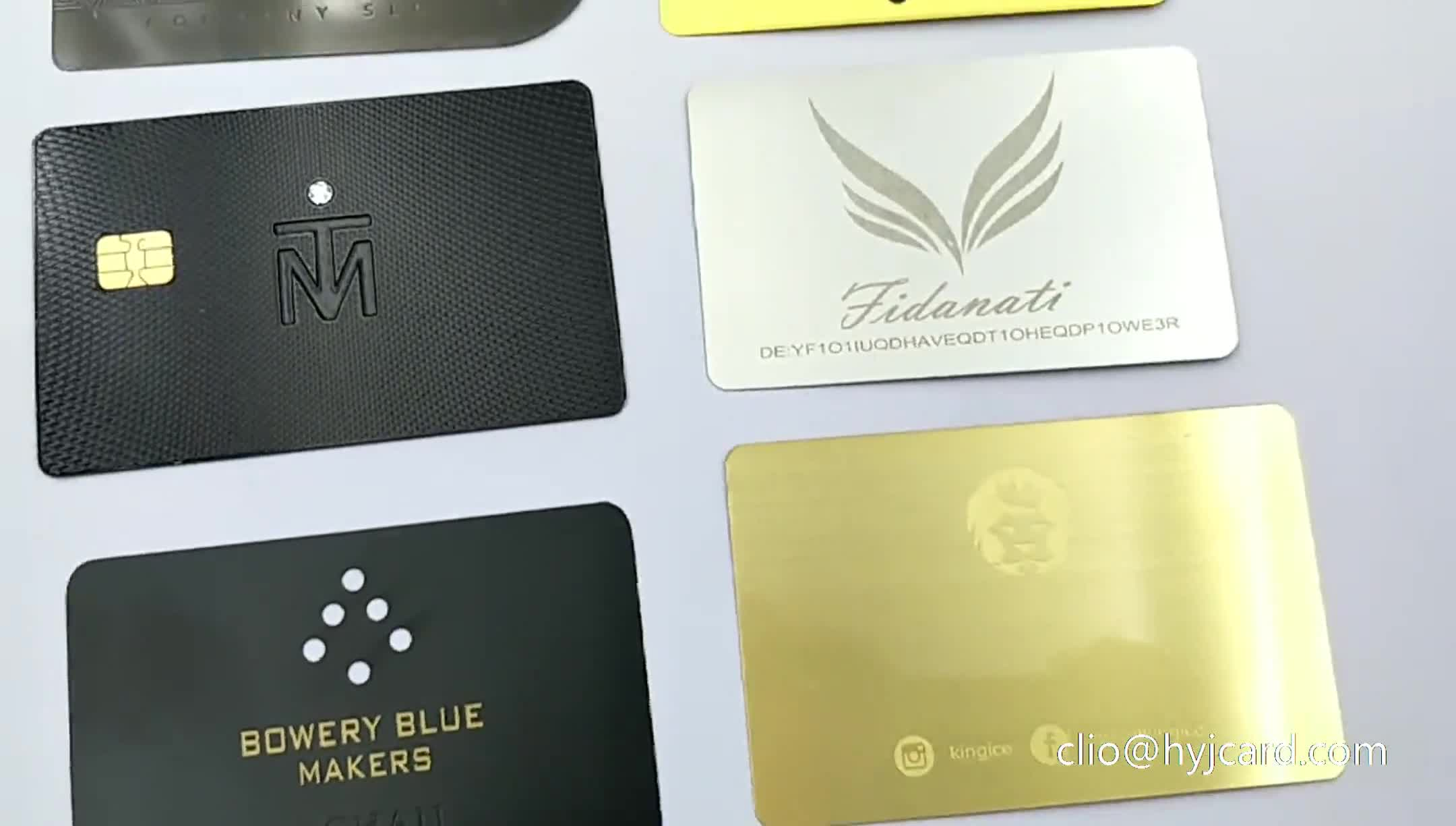 Customized Stainless Steel Metal Cards Membership Visiting Metal Cards