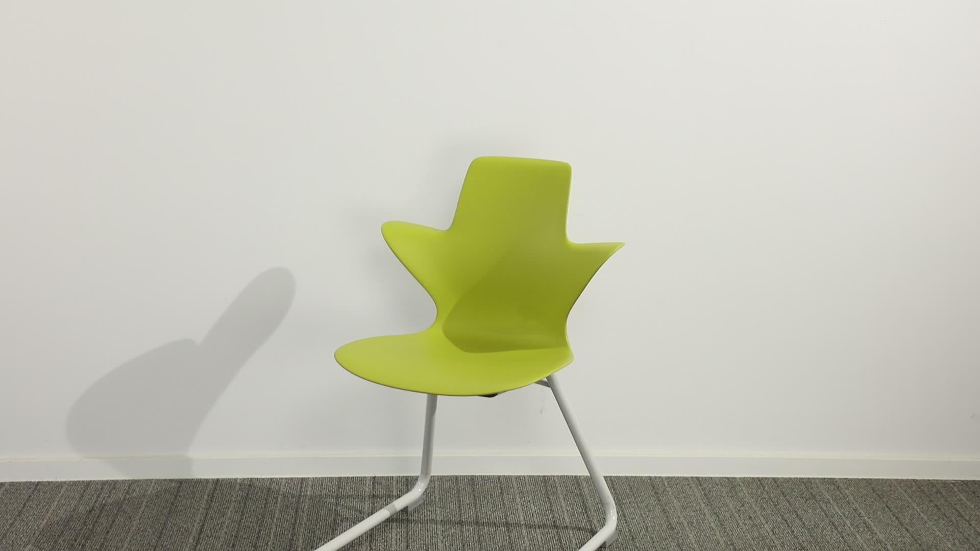 Aula de estudio Silla de Material plástico de muebles para el hogar por escrito silla para sala de estudio
