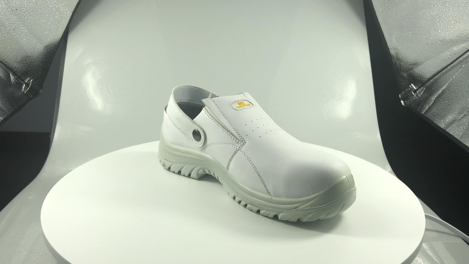 Branco antiderrapante calçados De Segurança Mid cut