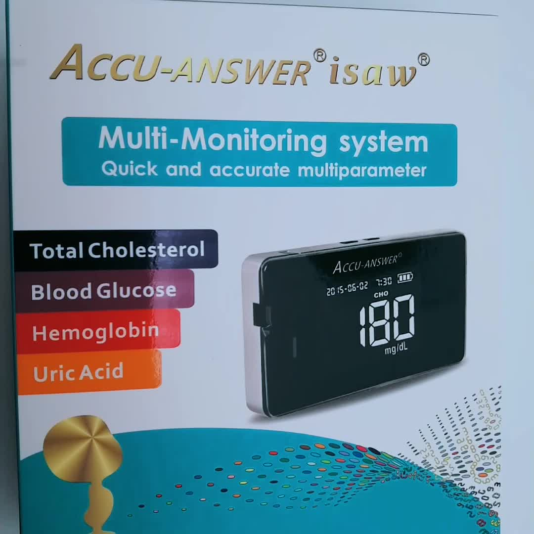1 में 4 ACCU-ANSWER हीमोग्लोबिन परीक्षण प्रणाली हीमोग्लोबिन मीटर परीक्षण पट्टी हीमोग्लोबिन मीटर परीक्षण रक्त के लिए