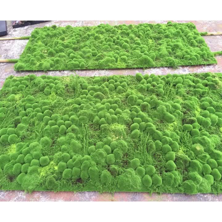 Groothandel kunstmatige veenmos mat wall panel art, kunstmatige moss tapijt