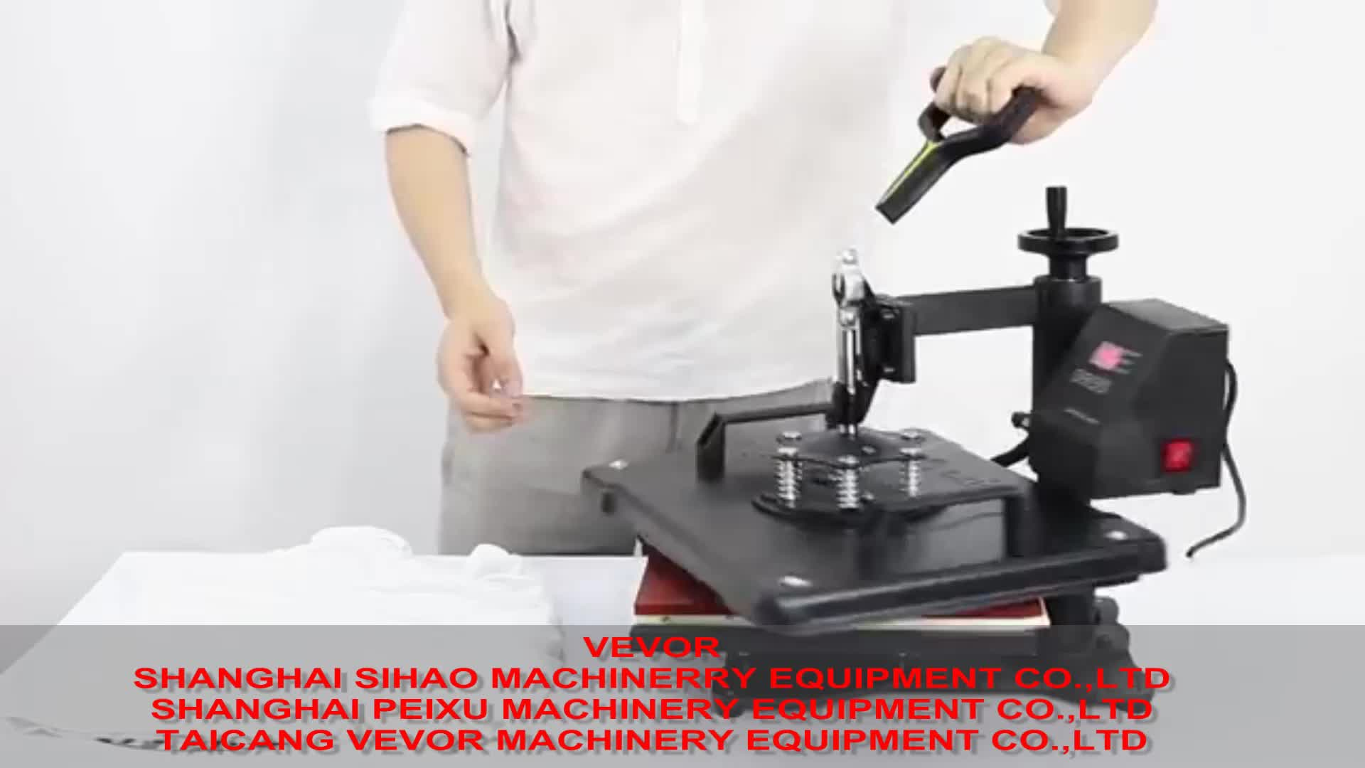 5 in 1 Swing Away Combo Heat Press Machine Sublimation 1400W  T shirt Printing Machine