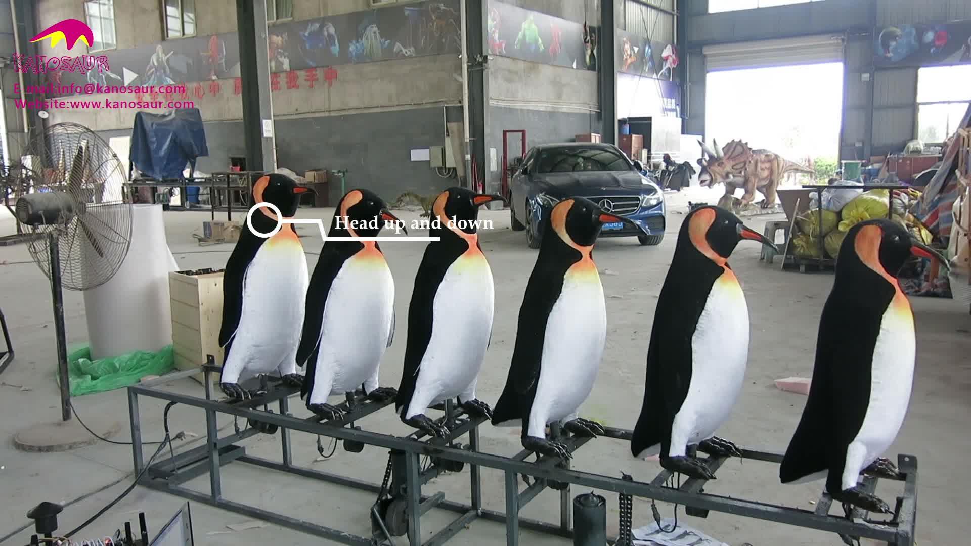 KANO-066 Zoo Decoration Life Size Animatronic Penguin