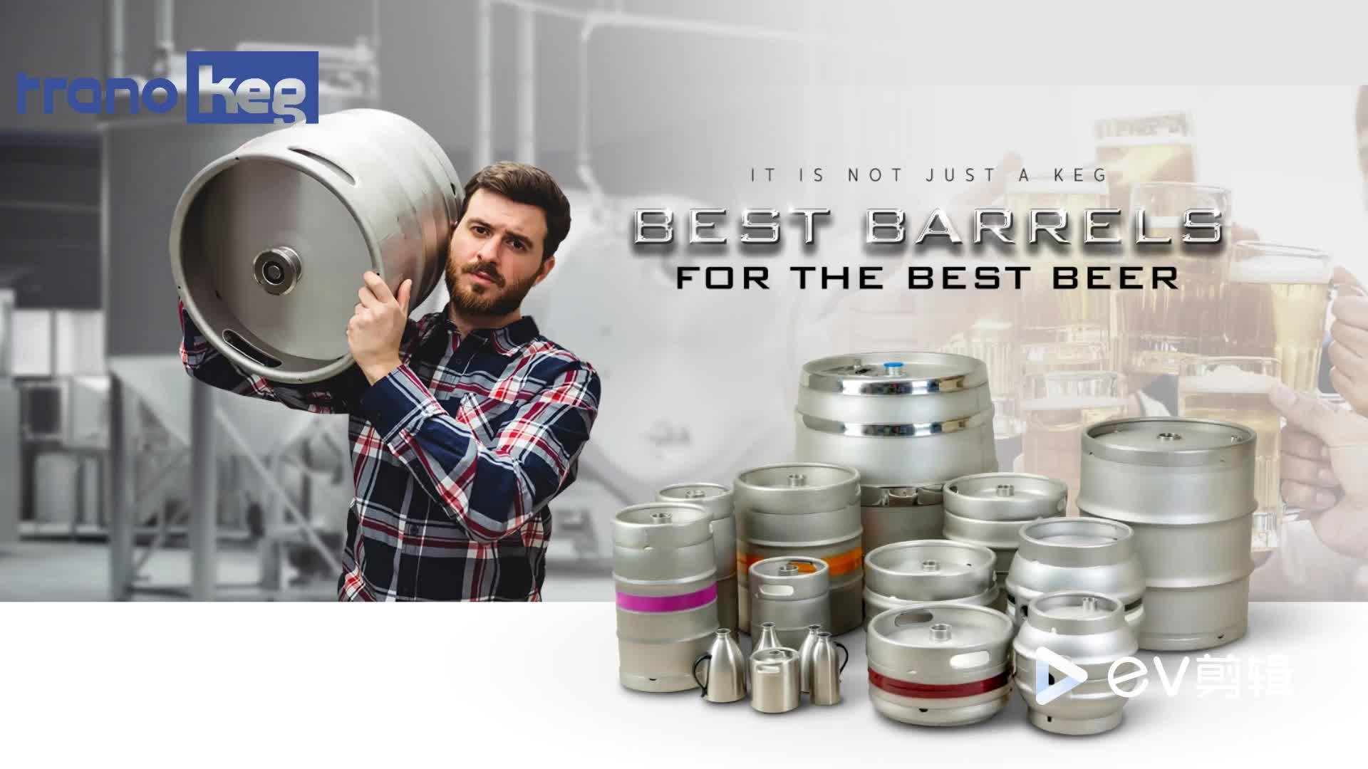 Sıcak Satış Özelleştirilmiş Paslanmaz çelik Bira Keg 25L