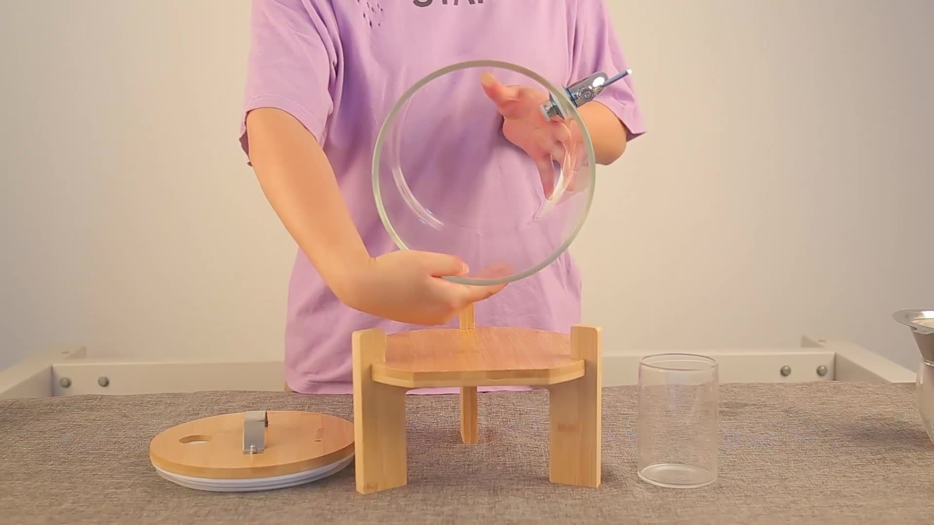 Handgemaakte borosilicaatglas koud water glas juicer drank dispenser
