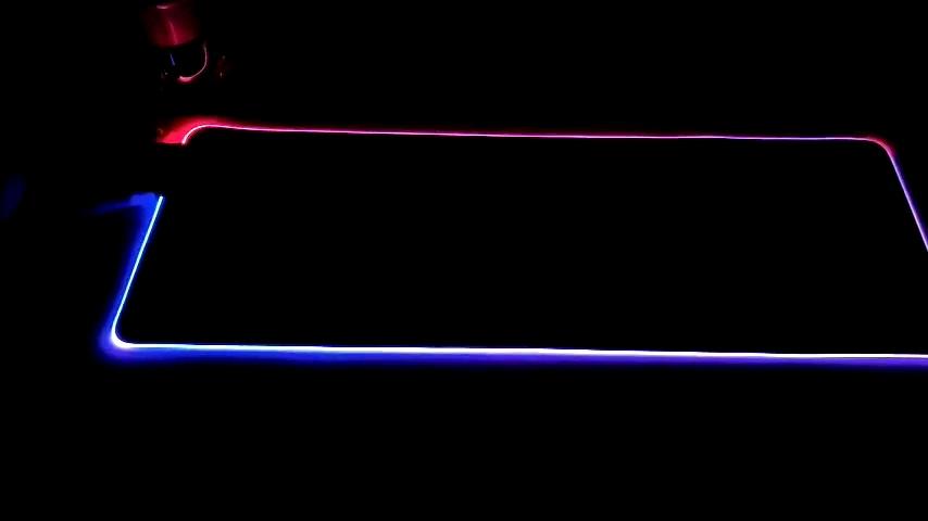 RGB גדול זוהר 7 מצב LED רך משחקי משטח עכבר גדול, מורחב שטיחי עכבר