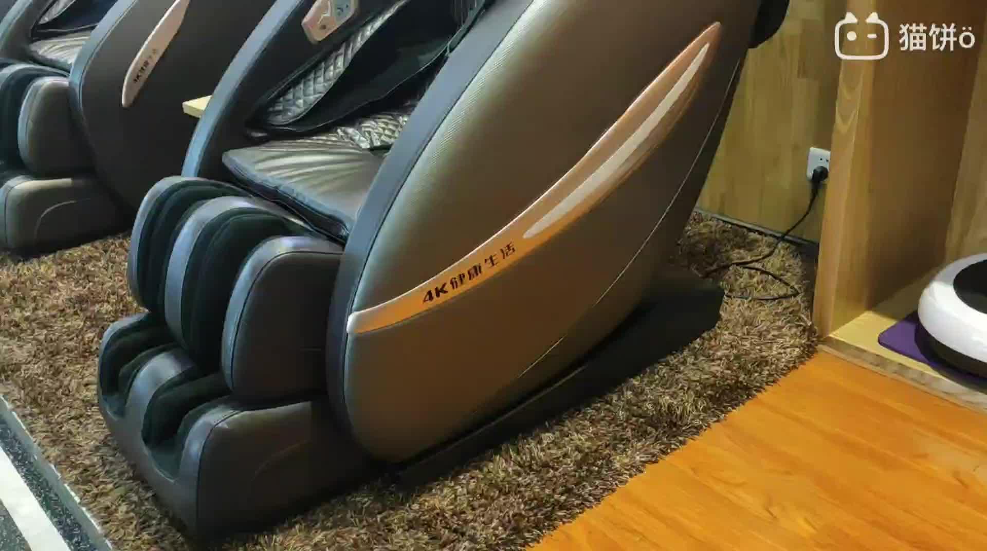 4 K-6820 T 3D Zero Gravity Corpo Pieno SL Pista Sedia di Massaggio