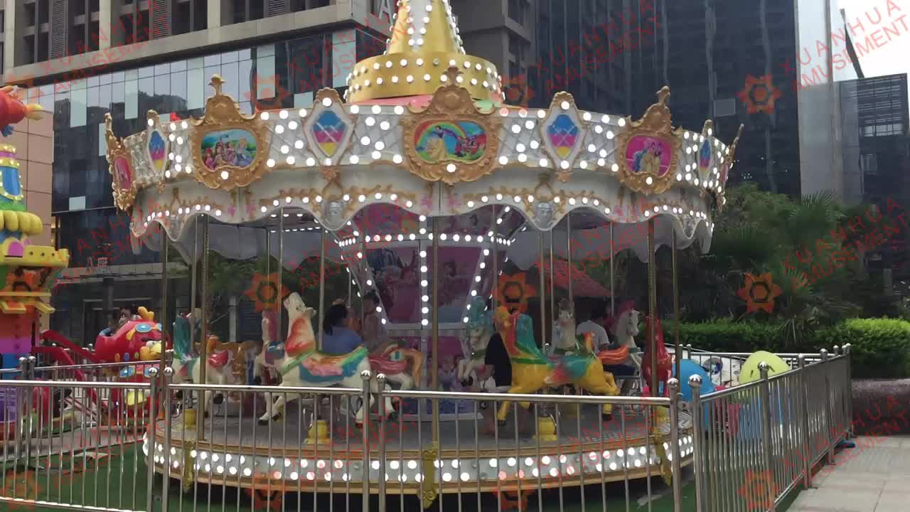Amusement 8/10/12/16 Seats merry go round in south africa/carousel rental roundabout