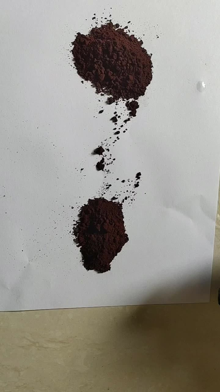 Factory price hot selling iron oxide brown pigment powder F