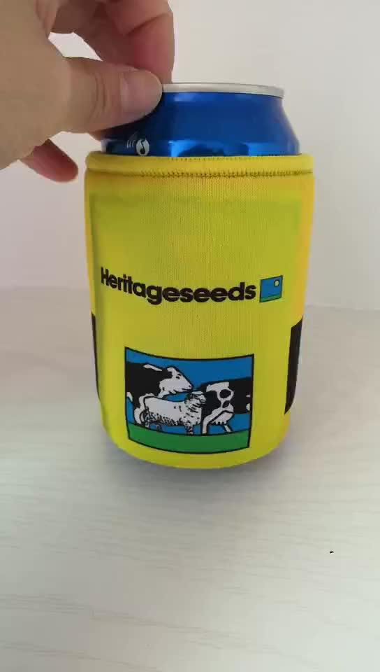 Ucuz şişe soğutucu Özel Logo Baskılı Neopren Güdük Soğutucu/Can Soğutucu/Güdük Tutucu