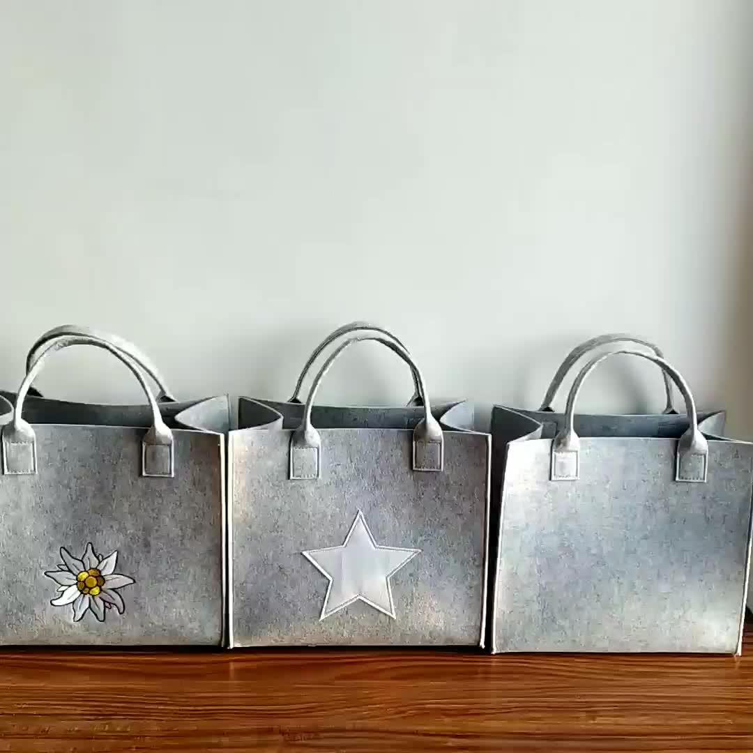 Wholesale designer lady bag women handbag felt tote bag organizer