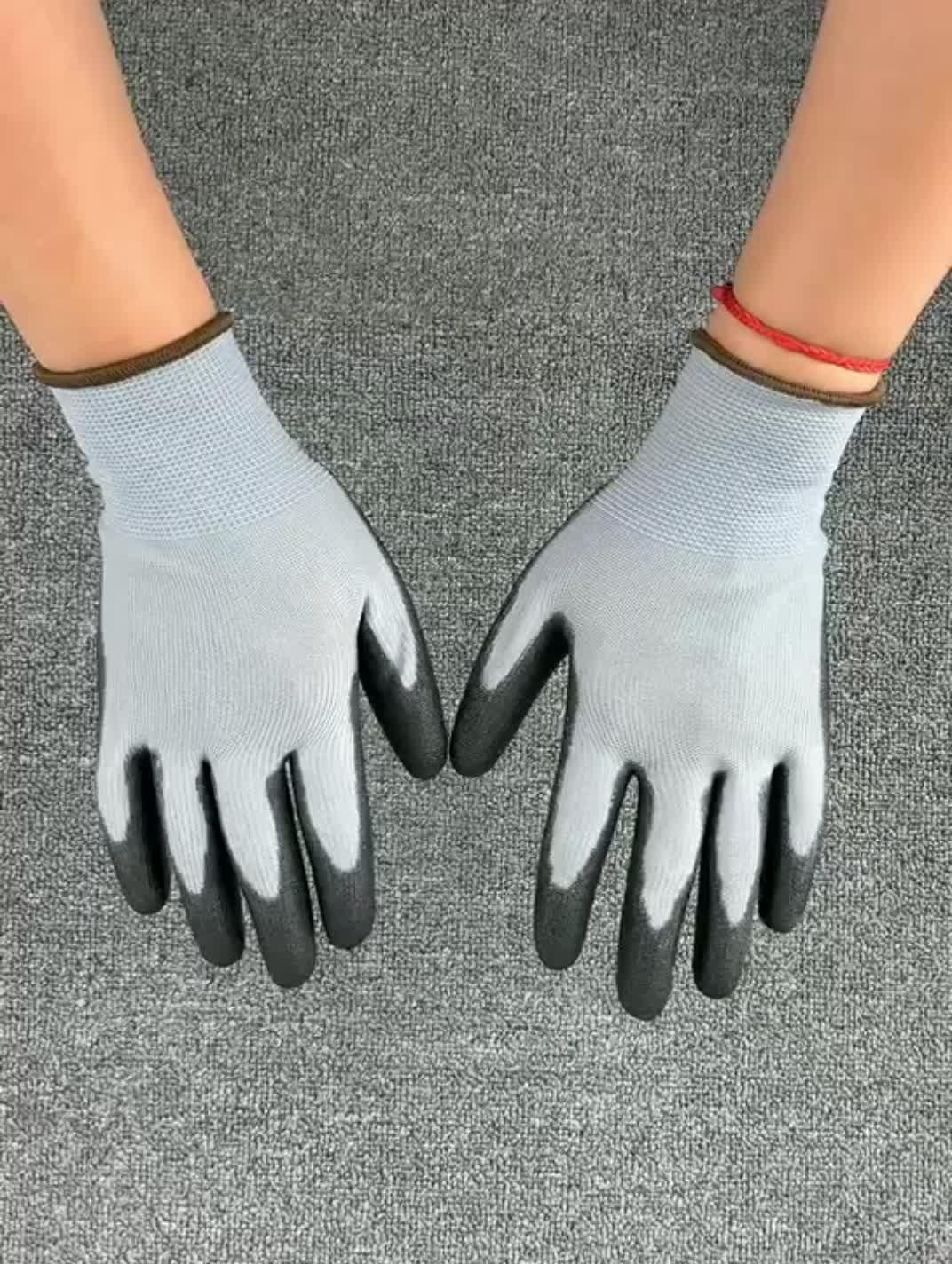 Günstige angeln handschuh magnet PU nylon arbeit handschuhe, auto reparatur, glas schneiden, handhabung