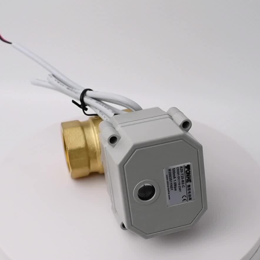 """4-20mA and 0-5V control signal 2 way DN25mm proportioning valve 1"""" inch brass ball valve"""