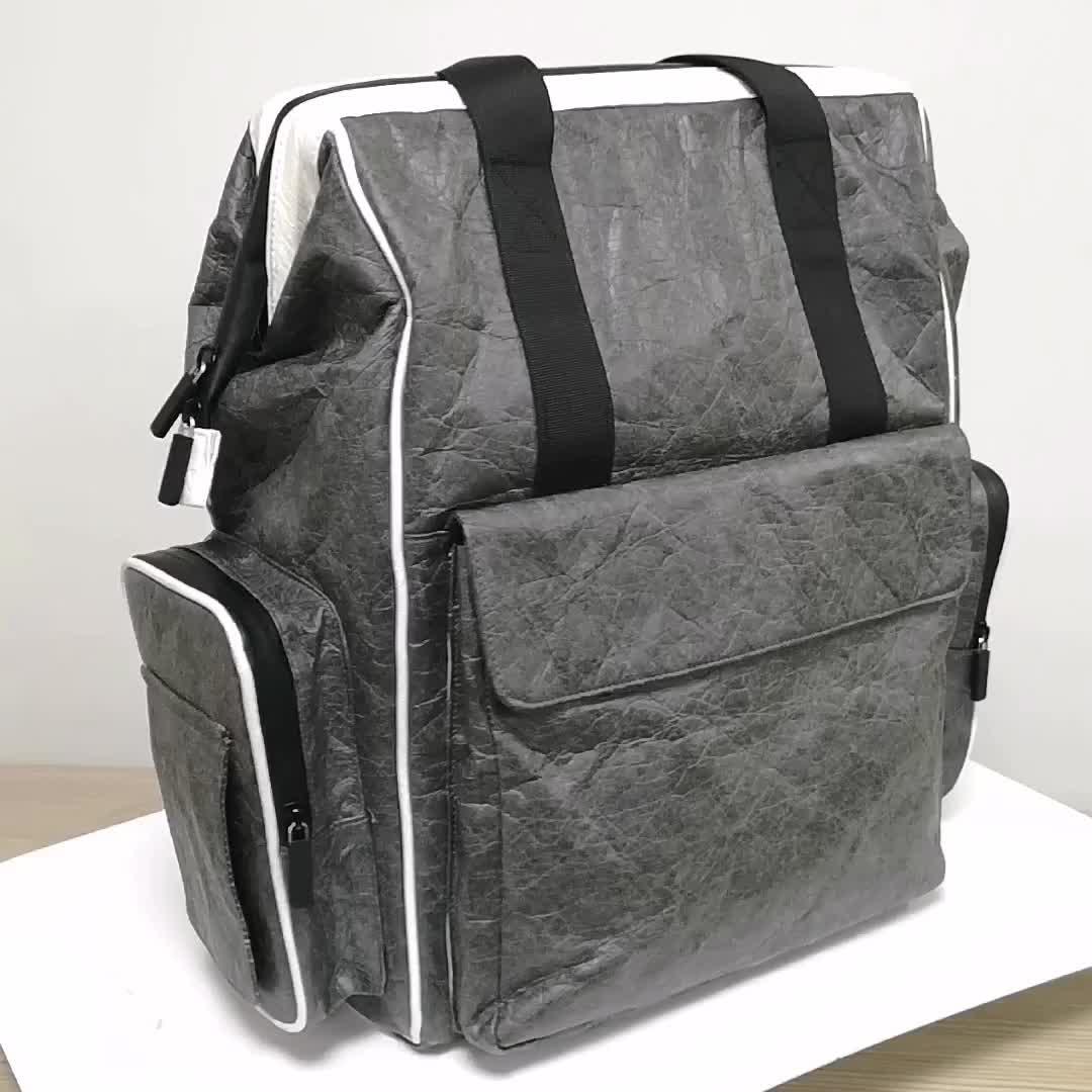 Custom Large Capacity Waterproof Travel Mummy Backpack Tyvek Tote Baby Diaper Bag
