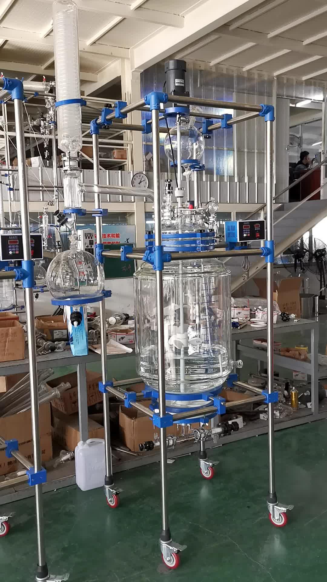 Tampa de Vidro de vidro-lin chemglass Jaqueta Reator 50l