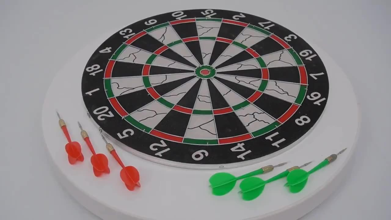 Flocking surface 17 inch tip Dartboard with 6 Darts Included  Dart Board Game Fun Play Gift Head Item Sets