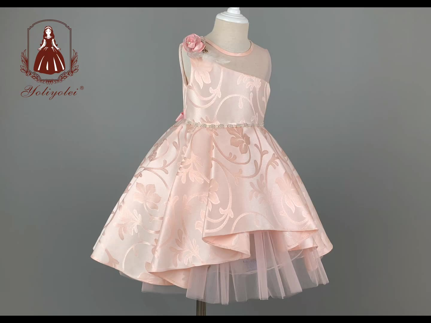 Yoliyolei New model party children clothes girls dresses