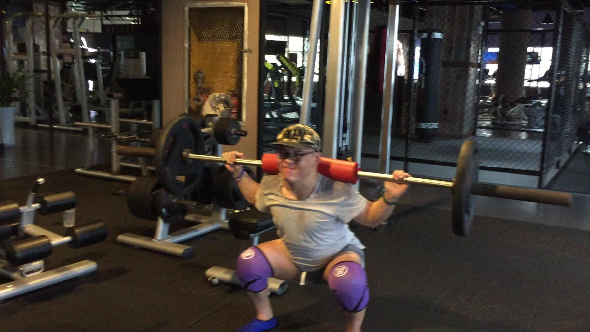 Custom low price neoprene weight lifting knee wraps knee support