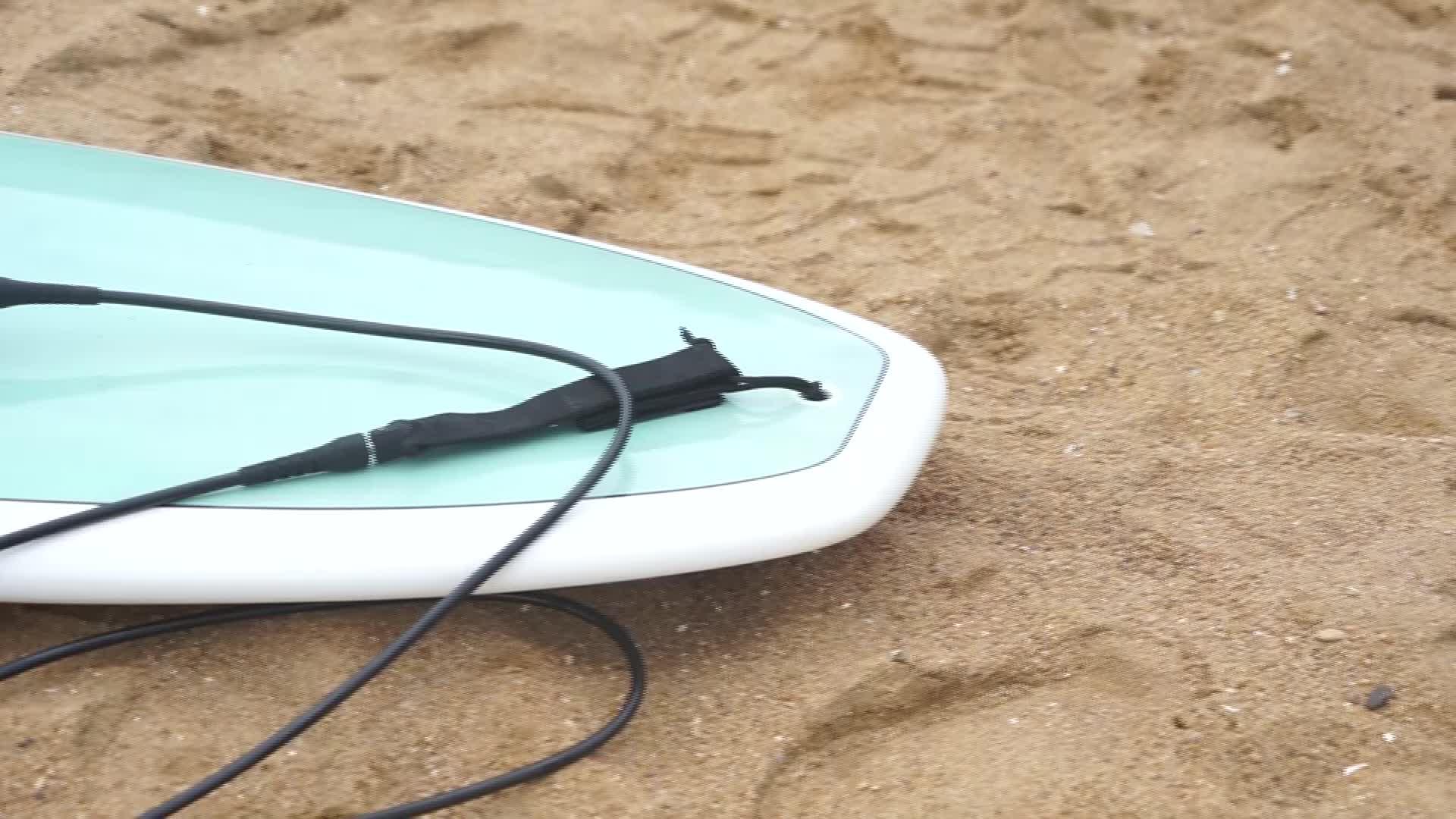 Neue design coiled leine sup paddle board leine