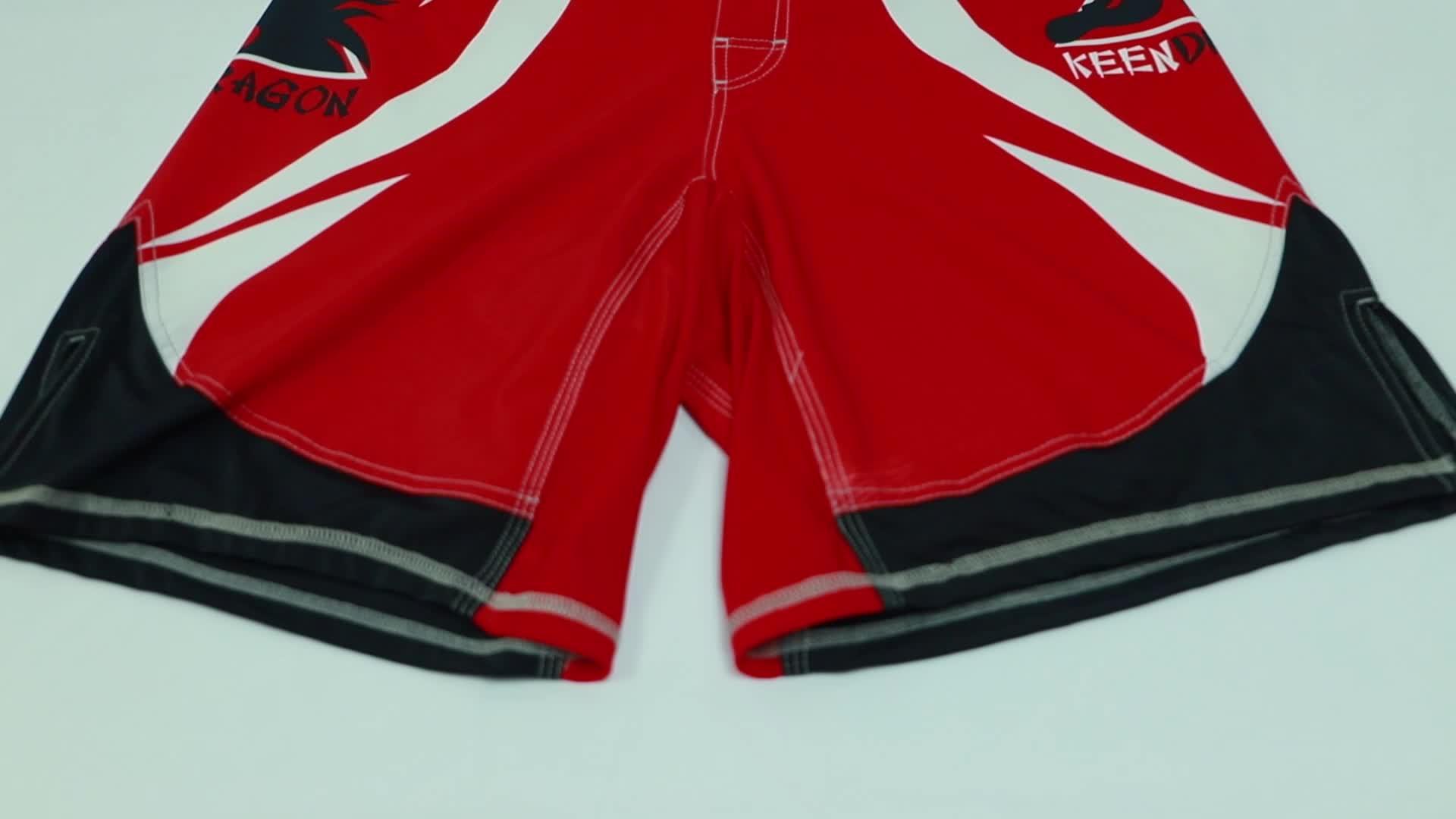 custom fighting kick boxing martial art training shorts Sublimated MMA SHORTS