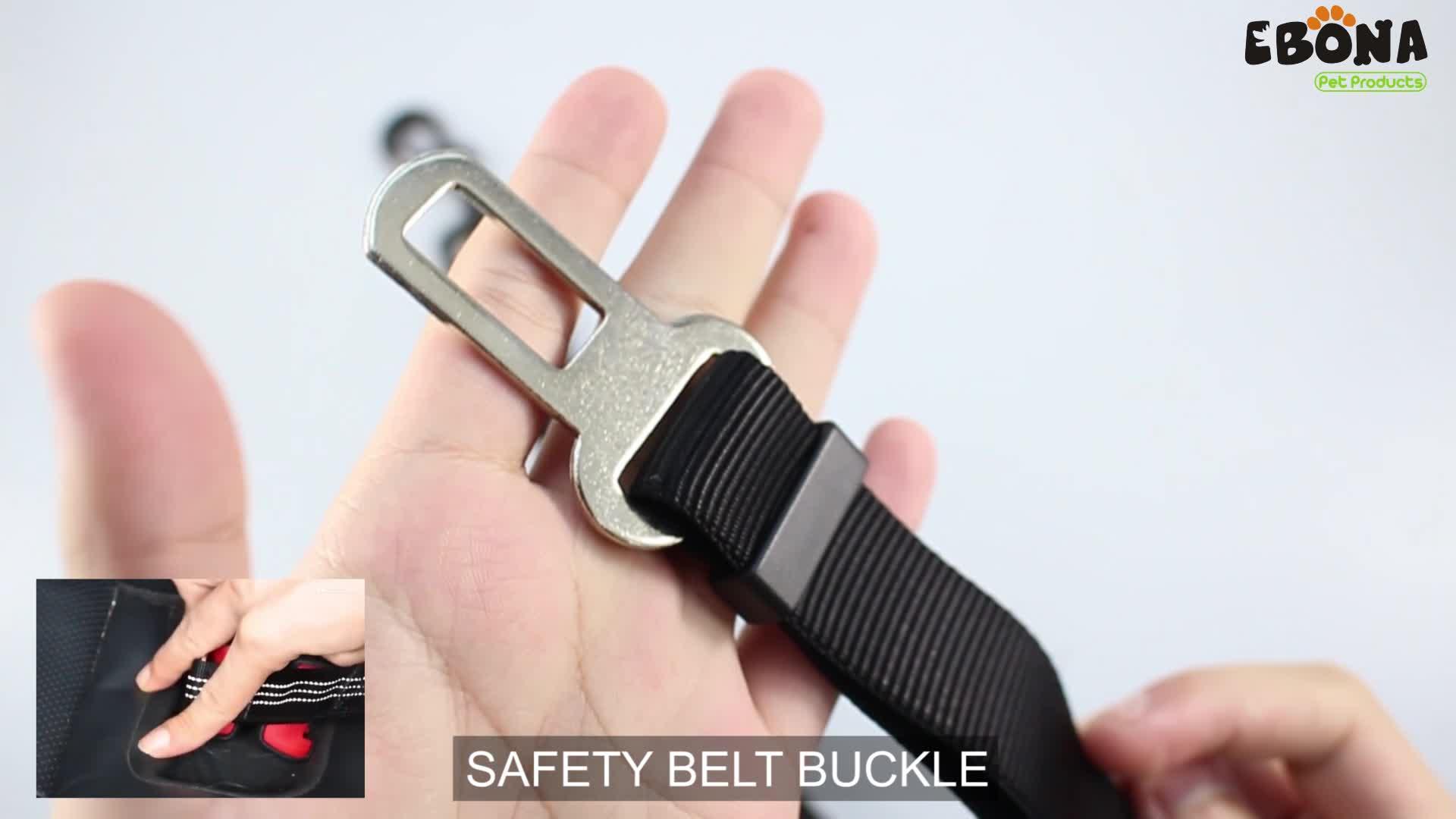 Perro cinturón ajustable perro de seguridad lleva coche asiento de vehículo cinturón para el cinturón de seguridad