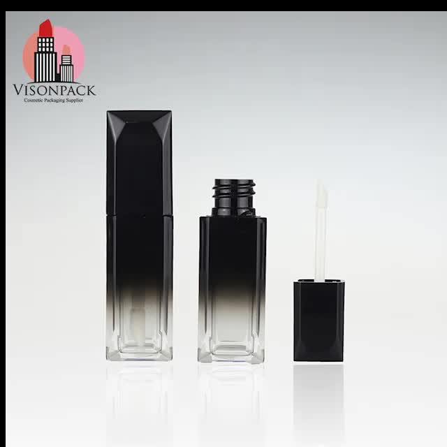 VISONPACK Wholesale Injected Cup Lip Gloss Square Plastic Tube