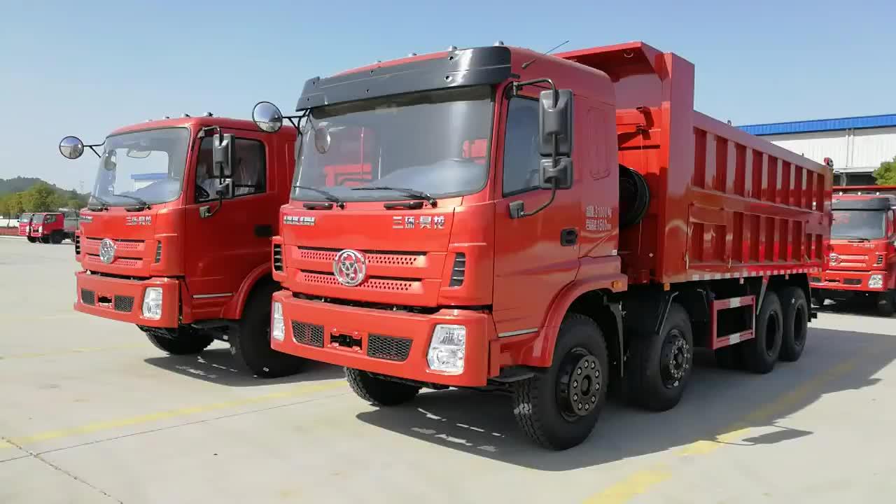 Xây dựng trang web khai thác mỏ 30 mét khối 12 bánh xe 50 tấn 8x4 xe tải
