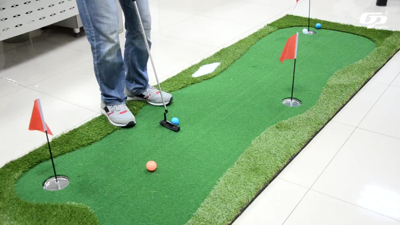Factory wholesale custom sizes outdoor and indoor mini mat synthetic grass golf putting green