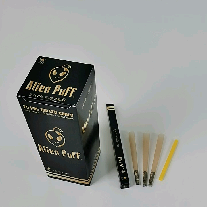 Pre-rolled CONE filter tips Personalized unbleached hemp smoking Rolling paper cones