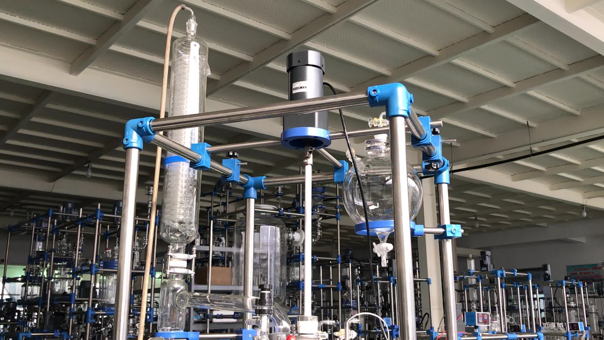 Su misura laboratorio automatico corrente 100l chimica reattore di vetro