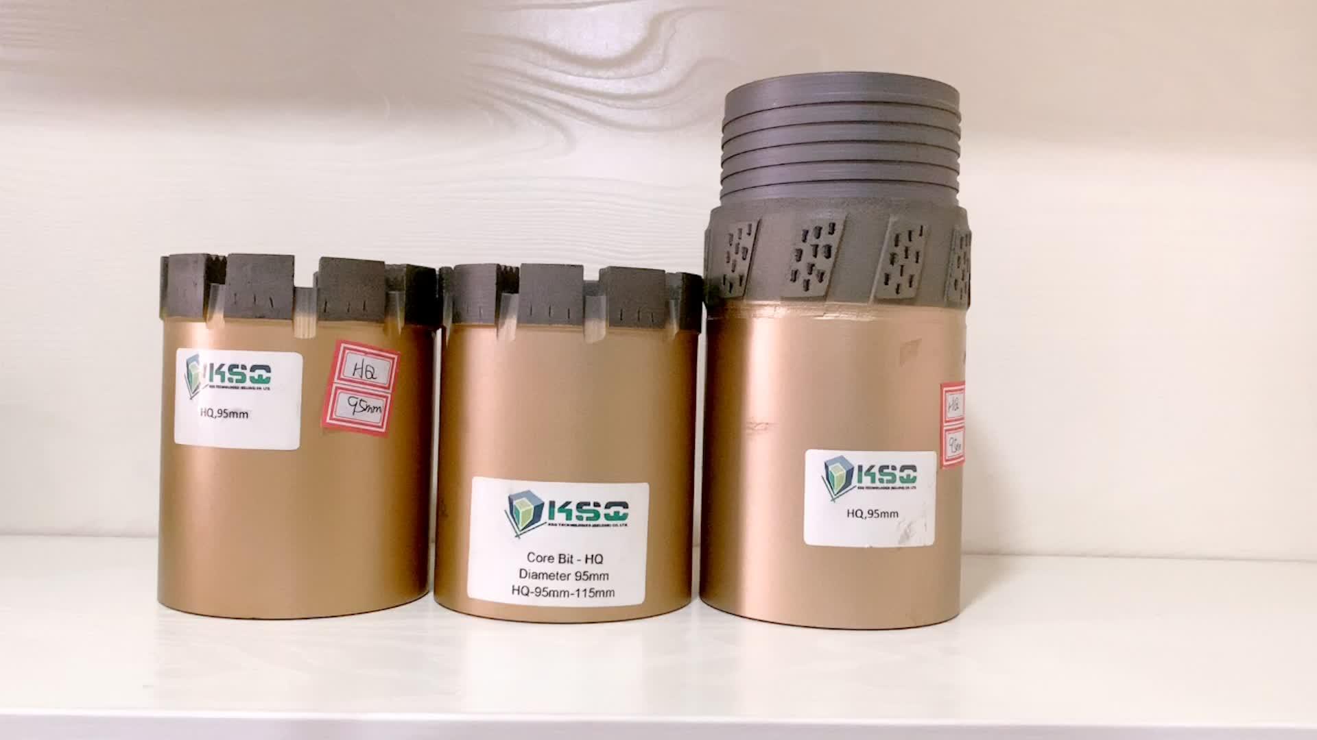 Q3 Dây-dòng core barrelas Kim Cương Lõi Khoan Bit cho Ba Ống Lõi Thùng được sử dụng trong địa chất khoan