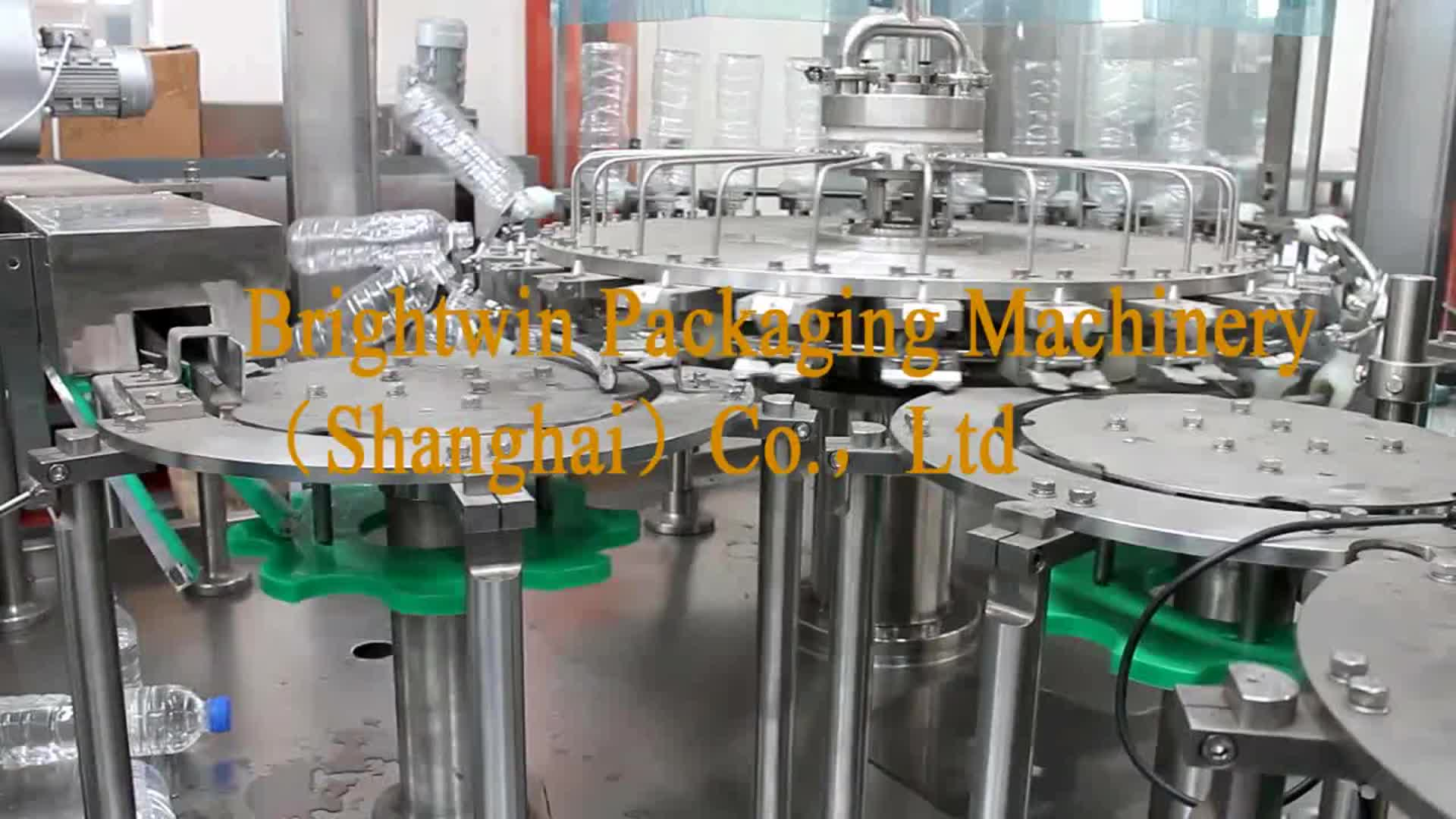Full Automatic  3 in 1 Complete PET Bottle Pure Water Filling line