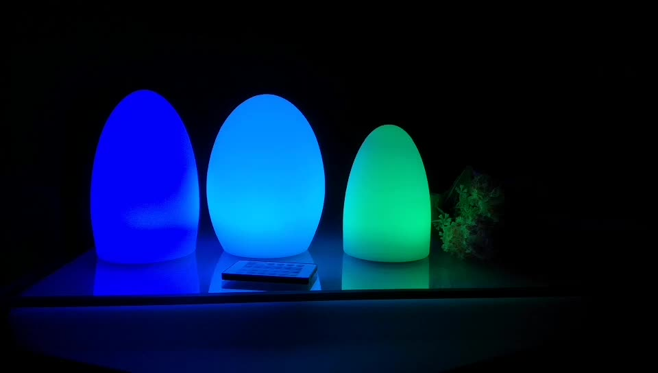 flashing led plastic table Lamp Cordless Night Lights with Remote Control