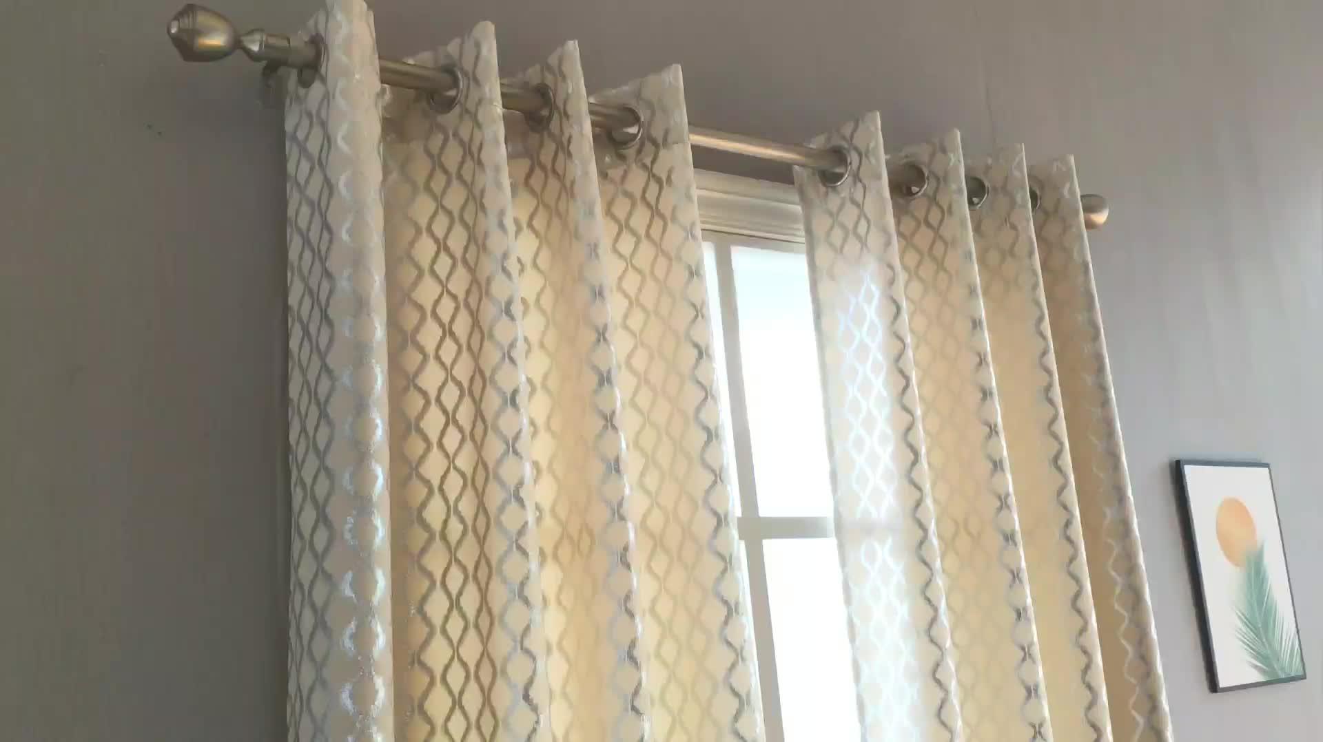 Hot sale velvet curtain  foil printed european curtain luxury window curtains for living rooms
