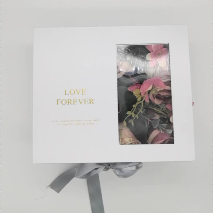 Customized Luxury beauty Folding party Gift packaging Box with Ribbon