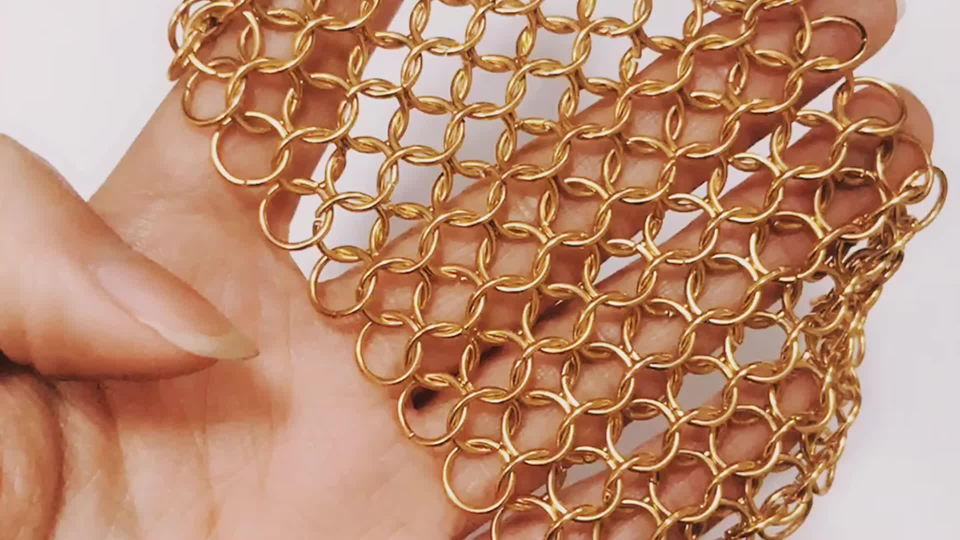 Flessibile architettonica anti-cut metallo anello in acciaio inox di maglia