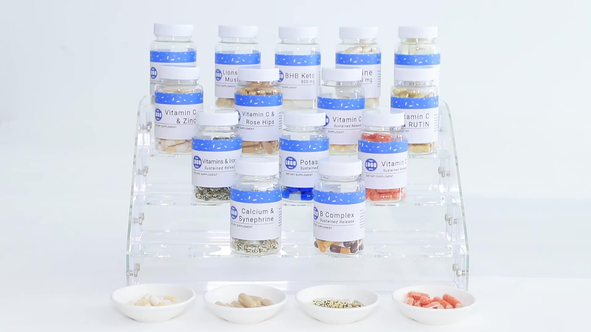 Verbeteren Slapeloosheid Kruiden Supplementen Valeriaan 5HTP Slaap Steun Vegan Capsules