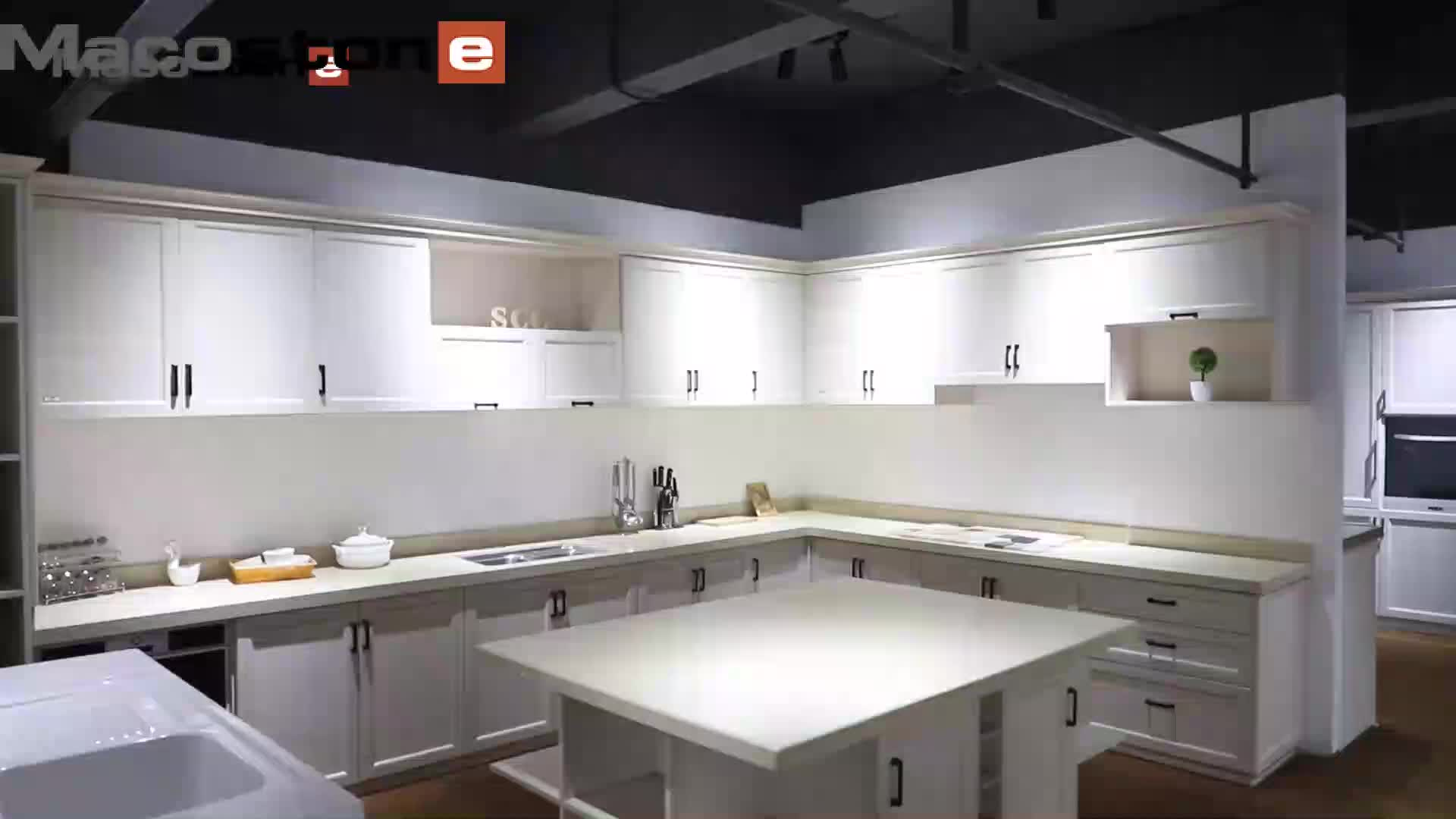 Finitura in Pvc 2 Pac Moderna Opaco Laccato Bianco Su Misura di Colore Misto Da Cucina Armadio Cabinet Per La Cucina