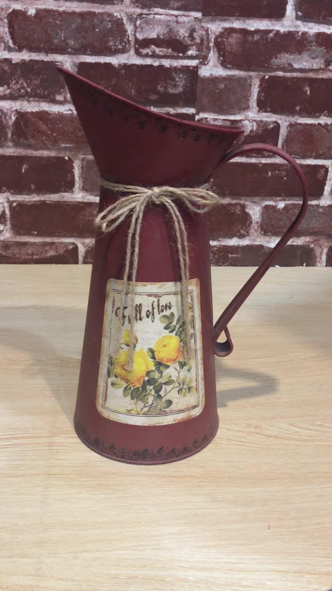 2019 Coreano mini vasos de flores vaso de flores cor brilhante jarro vaso vasos de flores de metal barato para as crianças da escola decoração do jardim