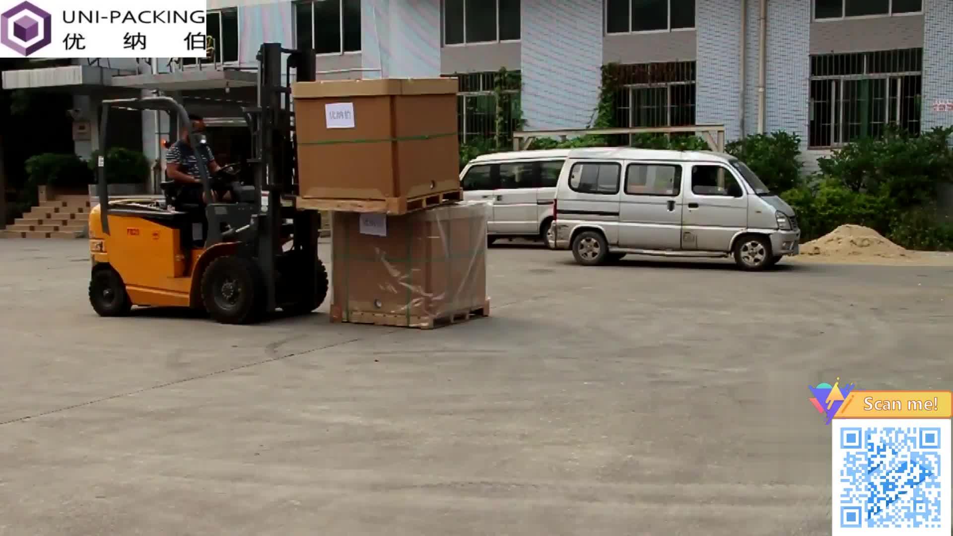भारी शुल्क गत्ता बढ़ते बॉक्स चिपकने वाला पैकेजिंग के लिए नालीदार कागज लाइनर के साथ IBC