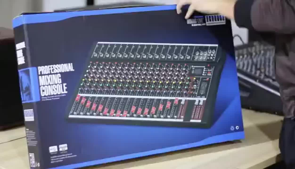 Customized professional audio mixer with bluetooth mp3 dj mixing console mixers 16 channels